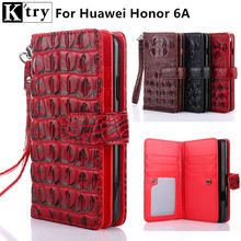 K'try for Huawei Honor 6A Case Cover Luxury Leather With Silicone Full Protect Wallet Flip Cover For Huawei Honor 6A Fundas