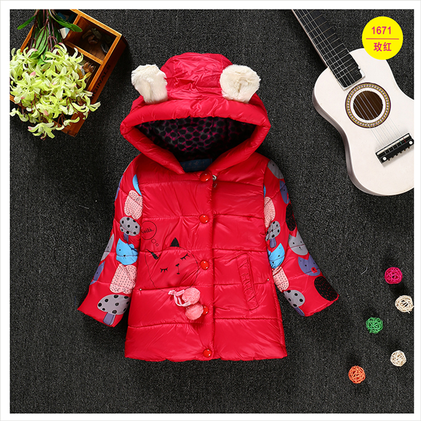 2016 Winter Children Girls Warm Down & Parkas Children Long Outerwear Jacket & Coat for girls 2-4T2016 Winter Children Girls Warm Down & Parkas Children Long Outerwear Jacket & Coat for girls 2-4T