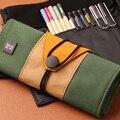 Креативный винтажный кавайный пенал  сворачивающийся пенсил  цветной большой пенал для хранения  школьный пенал для ручек  пенал для мальчи...