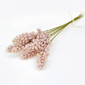 Image 3 - 6Pcs/lot Vanilla Foam Berry Spike Artificial Flowers Bouquet for Wedding Home Wall Decorations Cereals DIY Craft Fake Flowers