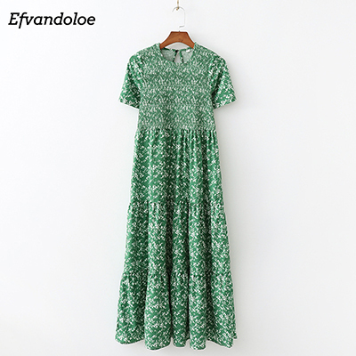 Green Maxi Dress Long...