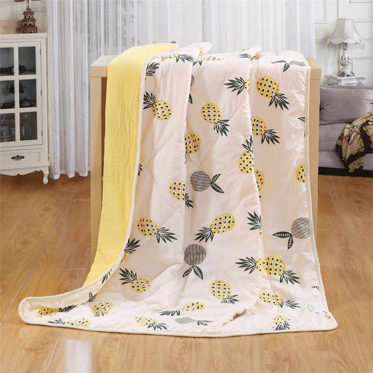 Pineapple Printing Bedspread Summer Quilt Blanket Comforter Bed Cover Quilting  for Children Kids