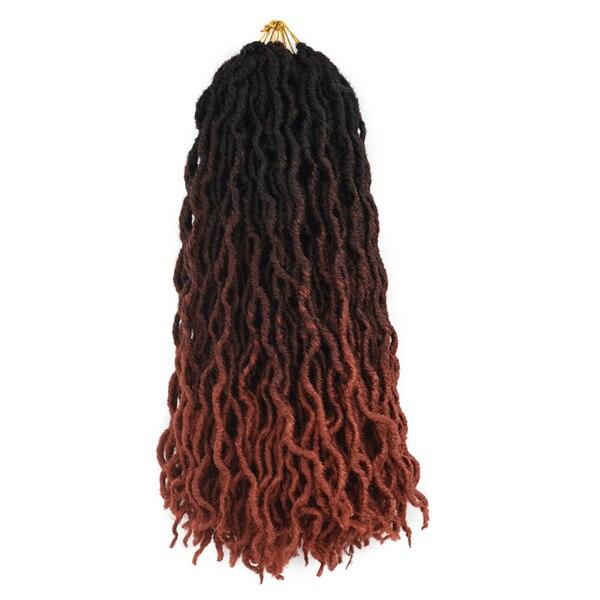 TOMO вьющиеся искусственные локоны в стиле Crochet волосы 24 косы волосы для плетения волос 18 дюймов плетеные косы Омбре наращивание волос - Цвет: T1B/350