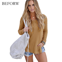 BEFORW Autumn Winter Casual Style Sweater Women Long Sleeves Knitting Sweaters Fashion Pullover Sweater Korean Version