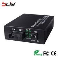 Novo produto mini 1G4E switch de fibra 1 de fibra óptica a 4 porta rj45 gigabit Ethernet switch de fibra óptica