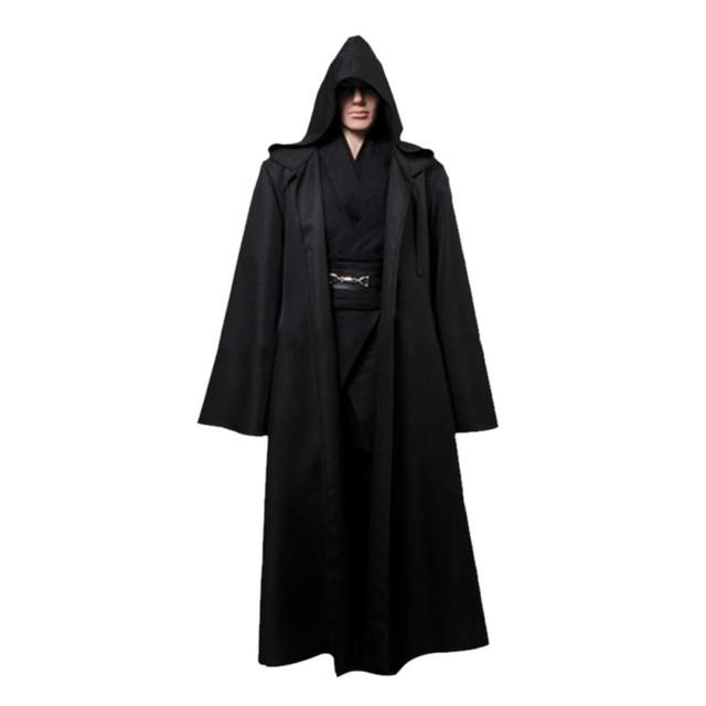 Star Wars Jedi Cloak Cosplay Costumes Adult Men Hooded Robe Cloak Cape Costume Halloween Christmas Dress New