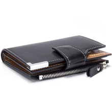SUONAYI brand Wallet men leather wallets purse short male clutch wallet mens money bag quality guarantee