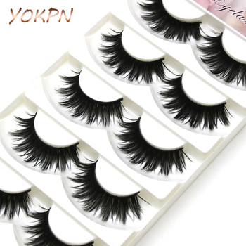 YOKPN New Cross Sharp End False Eyelashes Makeup False Eyelashes Naturally Thick Cross Smoked Long Stage Makeup Fake Eyelashes