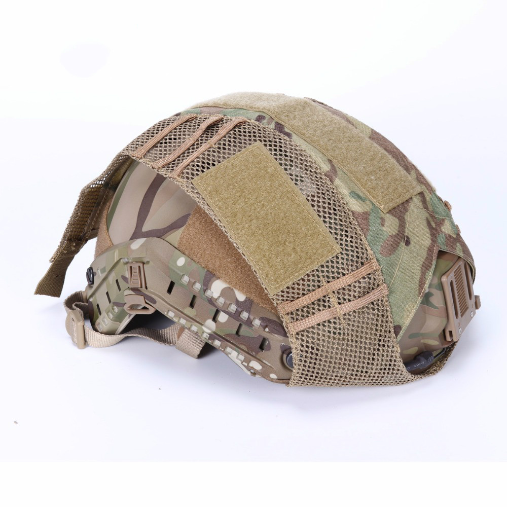 FMA Hunting Tactical Combat Paintball  Helmet Cover Durable Light Weight Half Covered Helmet Cloth Hunting Accessories-in Hunting Gun Accessories from Sports & Entertainment