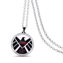 J& R Metal Anime movie The Avengers Superhero S.H.I.E.L.D Badge Pendant Necklaces Cosplay Accessories Choker Necklace Jewelry