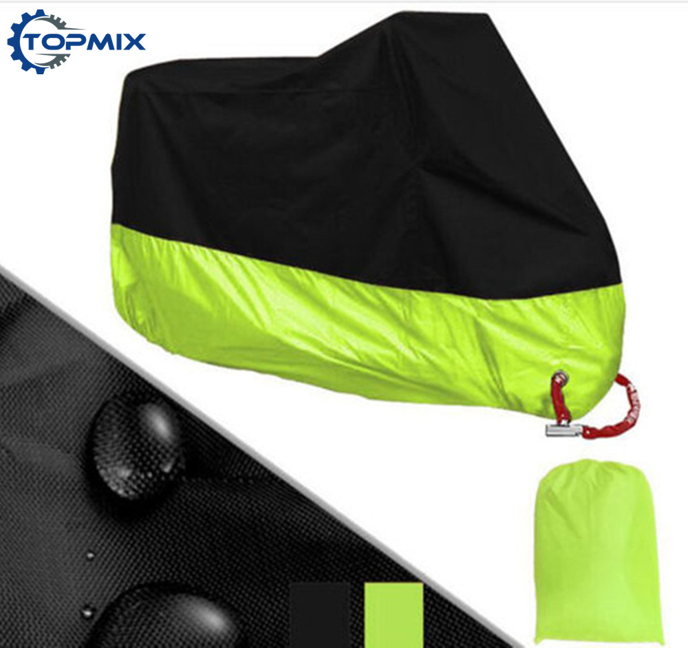 L XL 2XL 3XL 4XL 190T Black Green Motorcycle Cover UV Protector Waterproof Rain Dustproof Anti