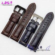 Rough grain leather crocodile adaptation PAM00111 328 386 312 M leather strap