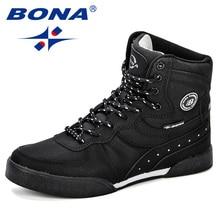 BONA New Designer Women Skateboarding Shoes Outdoor Athletic Shoes Woman Brand High Upper Sneakers Sport Shoes For Women Walking