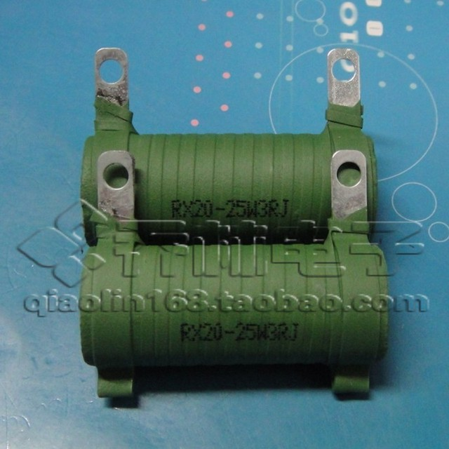 Electronic Component tube enamel wire wound resistor RX20 25W 3R 3 ...
