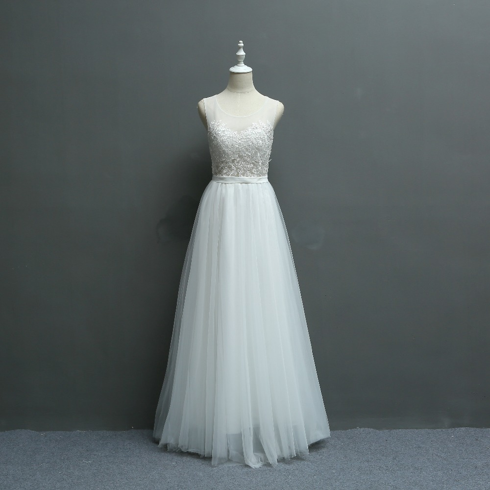 Hot Selling!Brief Fresh Exquisite Embroidery Lace Seaside Wedding DressWedding Photograph Dress 580
