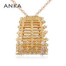 ANKA brand luxury vintage pendant charm necklace fashion girl women jewelry zircon CZ gold color necklace wedding gift #26078 anka luxury rose gold color flower necklace for women top zircon cz pendant necklace fashion jewelry accessories gift 125251
