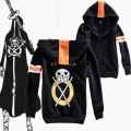 New Anime One Piece Trafalgar Law Black Jacket Hooded Sweatshirt Warm Coat luffy cosplay cartoon Japanese