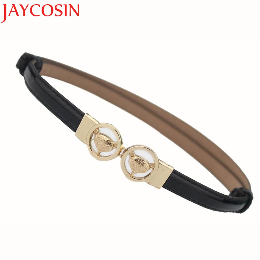 JAYCOSIN New Fashion  Candy Color Artificial Leather Slim Waistband Lady Women Leisure Strap Belt Drop Shipping