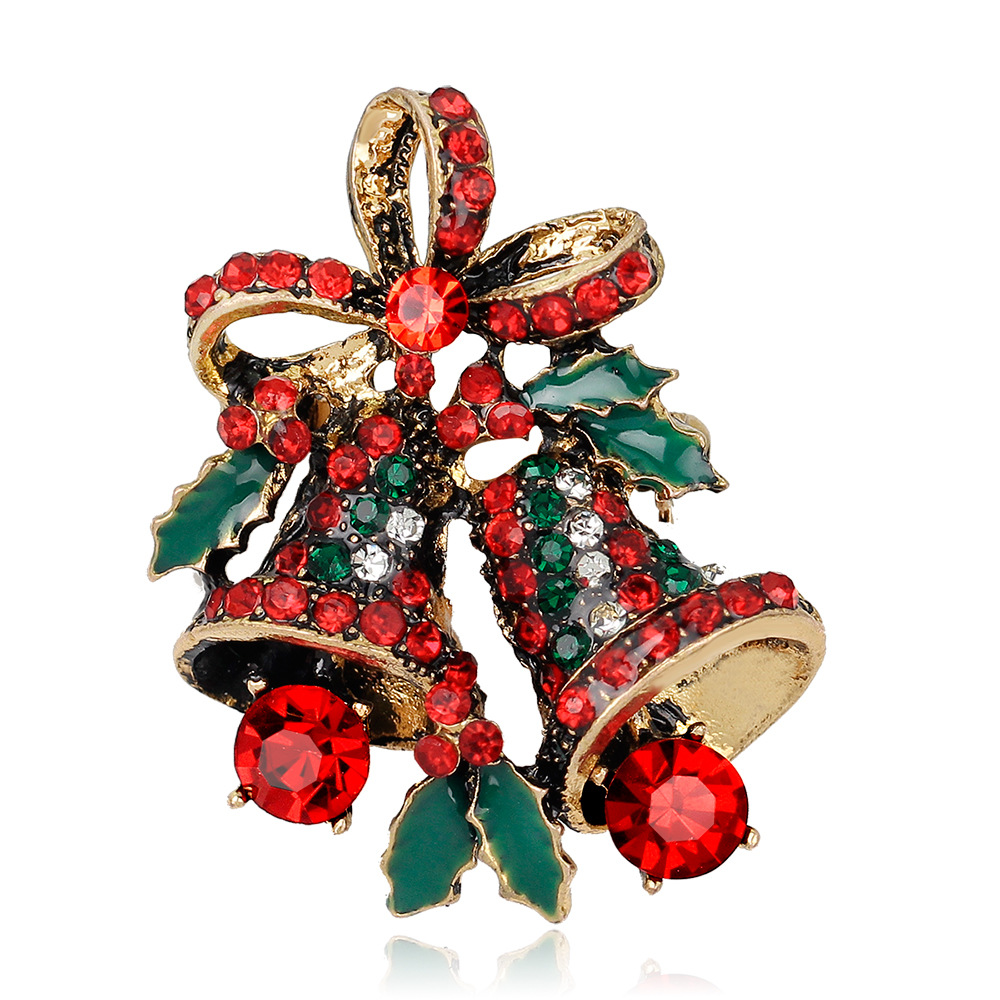 mloveacc crystal rhinestone small christmas gifts bell brooches christmas brooch cute lovely women jewelry gift for the new year in brooches from jewelry - Small Christmas Gifts