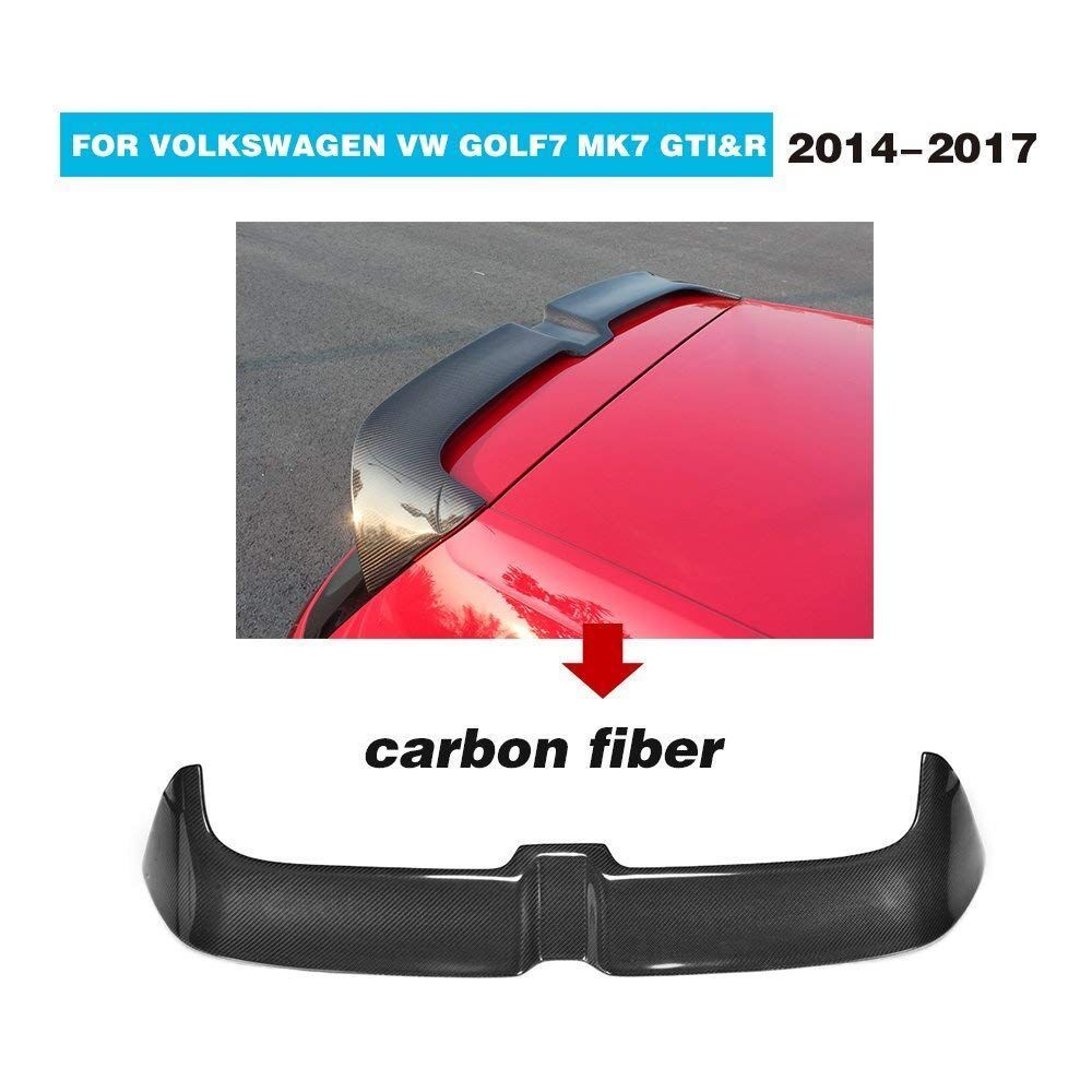 Carbon Fiber Rear Roof Trunk Wing Spoiler for Volkswagen <font><b>Golf</b></font> 7 VII MK 7 7.5 GT-I & <font><b>R</b></font> & <font><b>R</b></font>-LINE 2014 2015 2016 2017 <font><b>2018</b></font> image