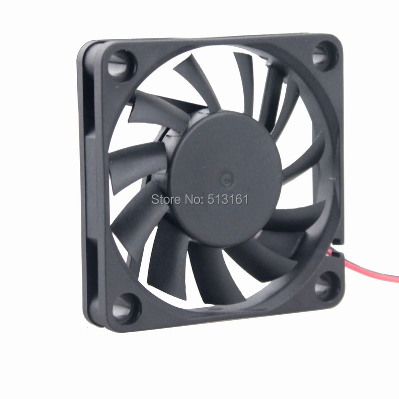 Купить с кэшбэком 5pcs/lot Gdstime DC 5V 2Pin 6cm Brushless 60*60x10mm Cooler 6010 6010s Radiator Cooler Cooling Fan