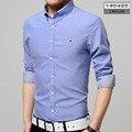 Новый Азиатский размер рубашки вскользь платья мужчины mens clothing долго рукавом социальный slim fit марка рубашки мужчины sharked мужчины платье рубашки