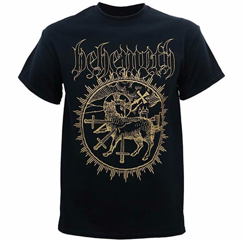 T-shirts 100% QualitäT Behemoth Musik Inverted Cross T-shirt