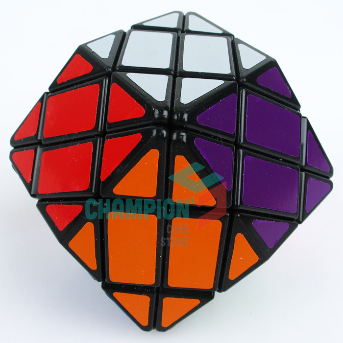 Lanlan Rhombic Dodecahedron Magic Cube Puzzle Black And White Learning Educational Cubo magico Toys