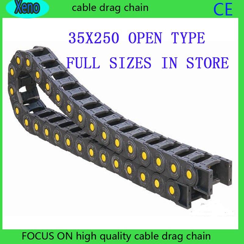 Free Shipping 35x250 1 Meters Bridge Type Plastic Towline Cable Drag Chain free shipping 35x150 10meters bridge type plastic towline cable drag chain