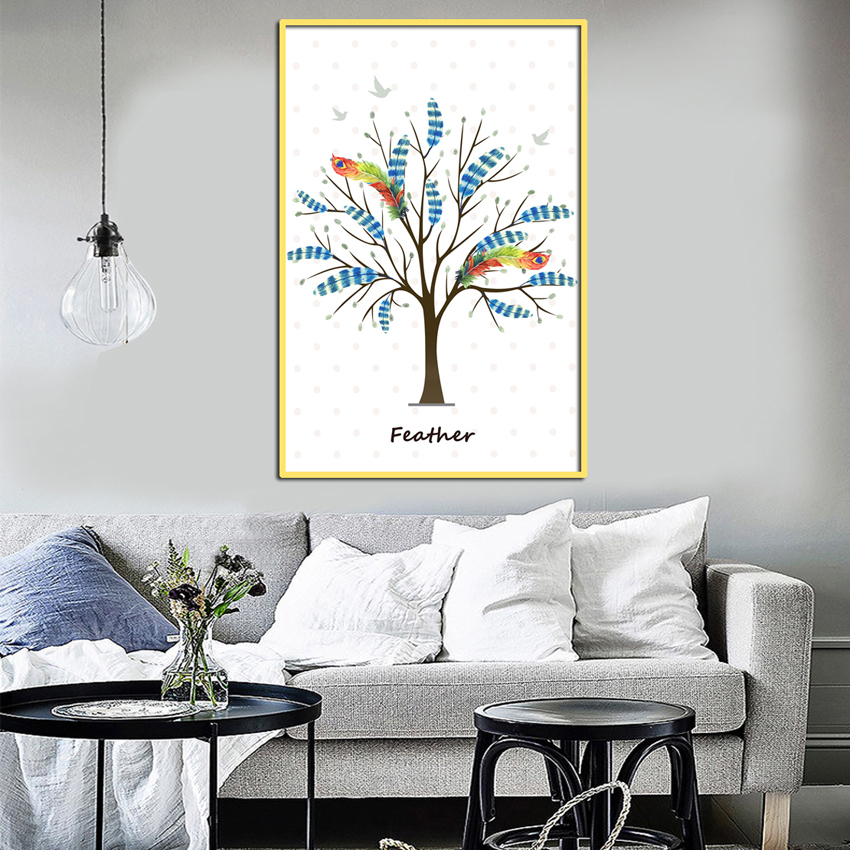 Svity Eagle Tree Modern Simple Nordic Canvas Painting Art Print Poster Wall Paintings Bedroom Home Decoration Fa669 No Frame In Painting Calligraphy