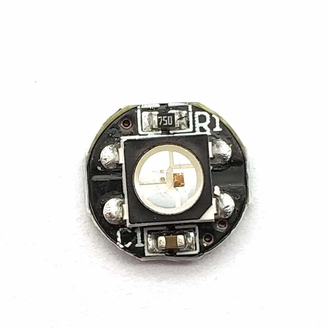 WS2812B WS2812 Chip LED 5050 SMD RGB DC5V dengan Hitam Papan PCB Heatsink 9.6 Mm Diameter WS2811 IC Built-inWS2812B WS2812 LED Chip