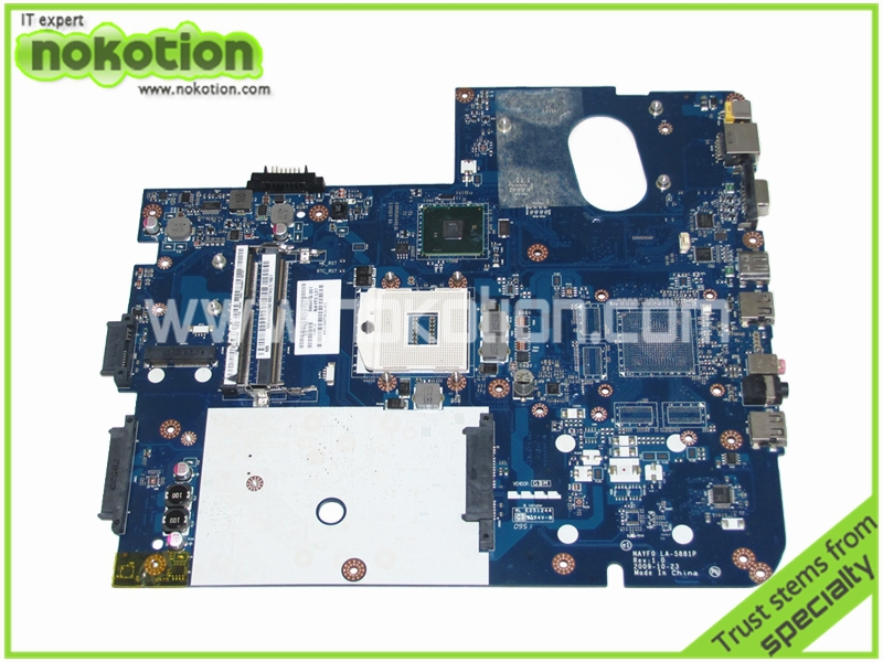 NOKOTION LA-5881P Laptop Motherboard for Gateway NV79 MBWHH02001 MB.WHH02.001 NAYF0 Intel HD MainboardNOKOTION LA-5881P Laptop Motherboard for Gateway NV79 MBWHH02001 MB.WHH02.001 NAYF0 Intel HD Mainboard