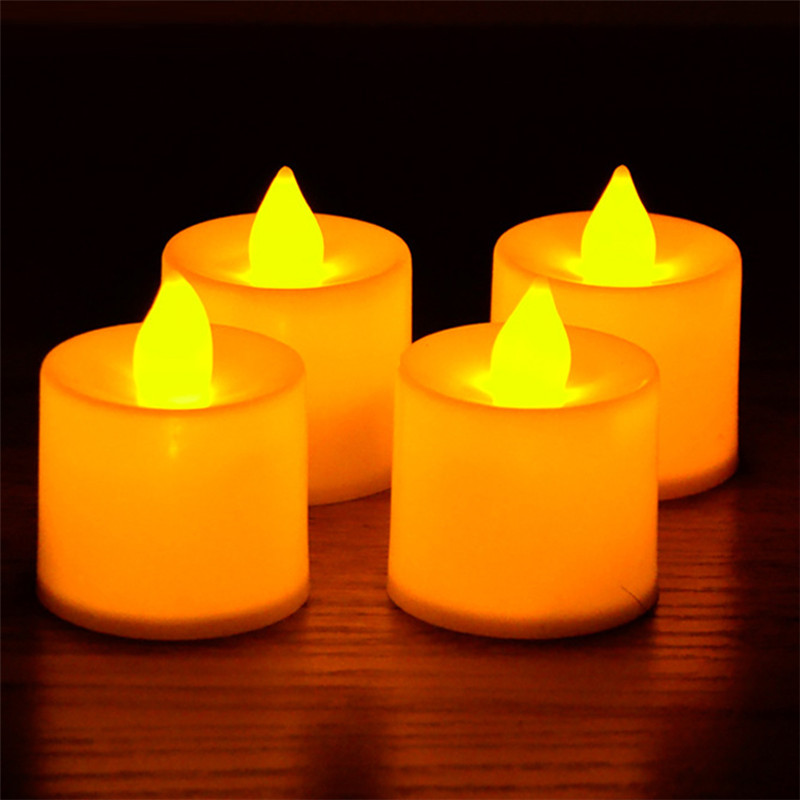 TTLIFE 24 Pcs New partiesFlickering Flicker Light Flameless LED Tealight Tea Candles Led Flameless Color Changing Wedding Light