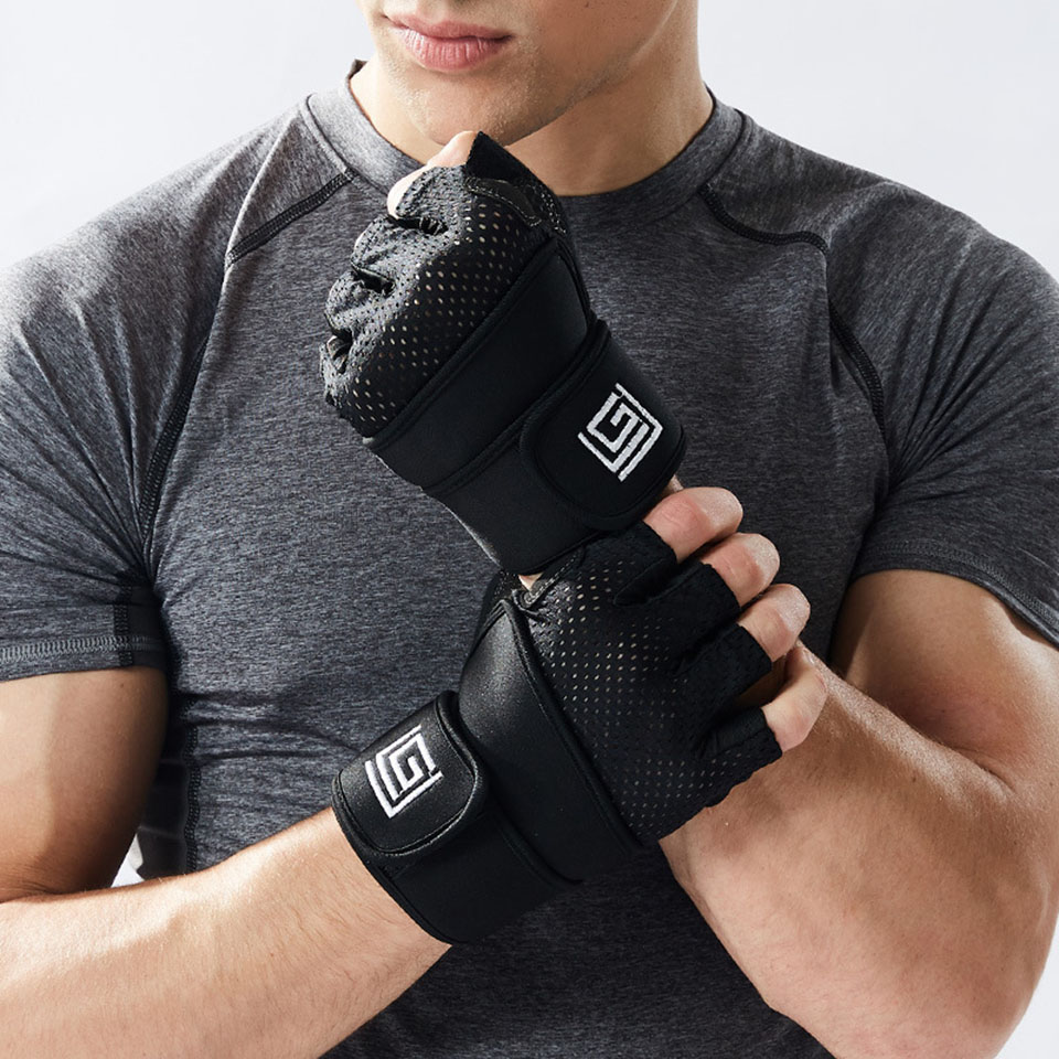 Gym Gloves Heavyweight Sports Exercise Weight Lifting Gloves Breathable Body Building Training Sport Fitness GlovesGym Gloves Heavyweight Sports Exercise Weight Lifting Gloves Breathable Body Building Training Sport Fitness Gloves