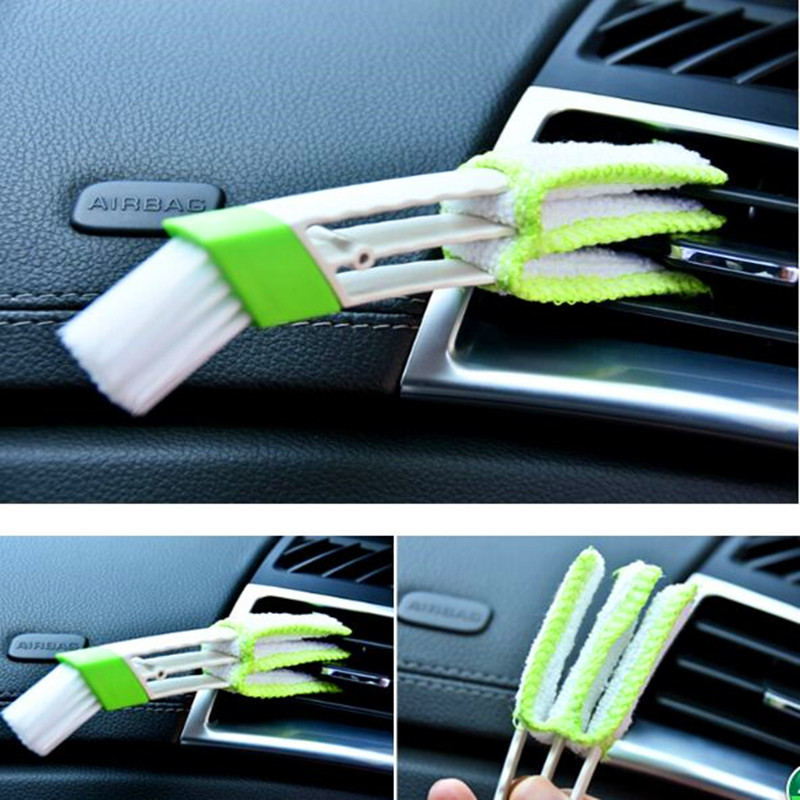 For Audi A3 8V A4 B5 B6 B7 B8 A6 C5 A5 TT Q3 Q5 Q7 80 100 A1 A2 A7 A8 S3 S4 R8 RS Quattro S line Car Cleaning Double Side Brush image