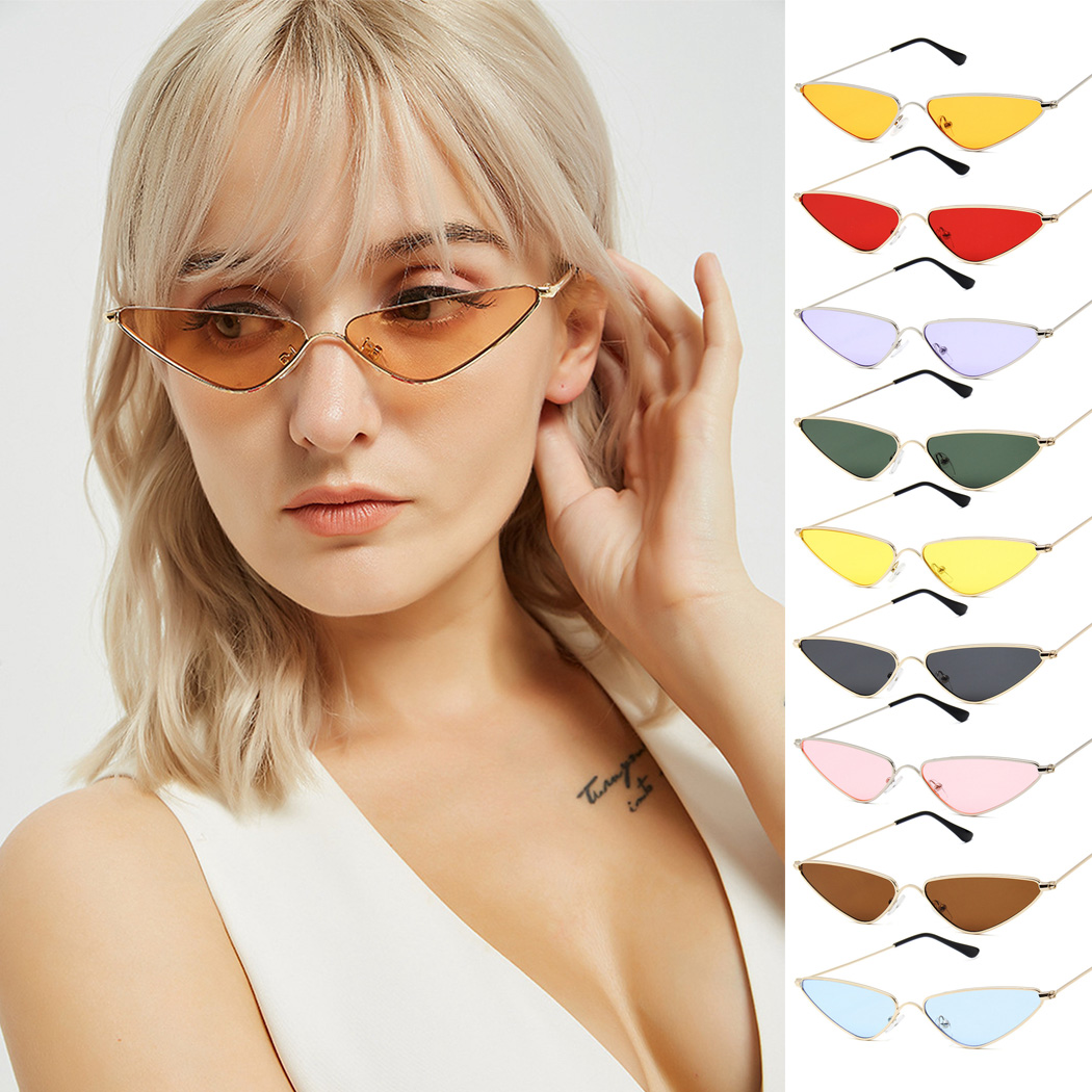 Wsunglass Fashion Cat Eye Sunglasses retro fashion ladies stainless steel sunglasses sunglasses the same batch/_5