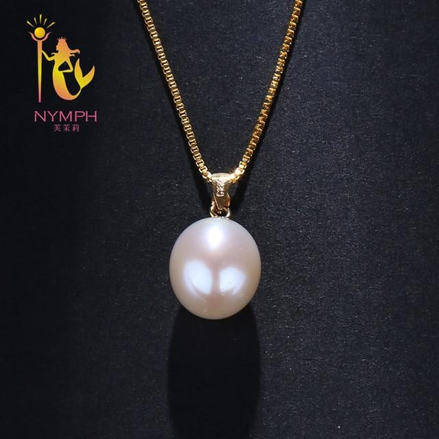 c96e133ea514 Nymph 18 K oro amarillo perla de agua dulce natural pendiente colgante  collar regalo para las