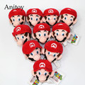 10pcs/lot Cartoon Super Mario Bros Mario Luigi Mushroom Mini Plush Dolls with Chain Stuffed Soft Toys Kids Gift Pendants AP0030