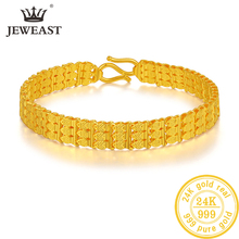 ZSFH 24K טהור זהב צמיד אמיתי 999 מוצק זהב צמיד יוקרתי יפה רומנטי טרנדי תכשיטים קלאסיים חם למכור חדש 2020
