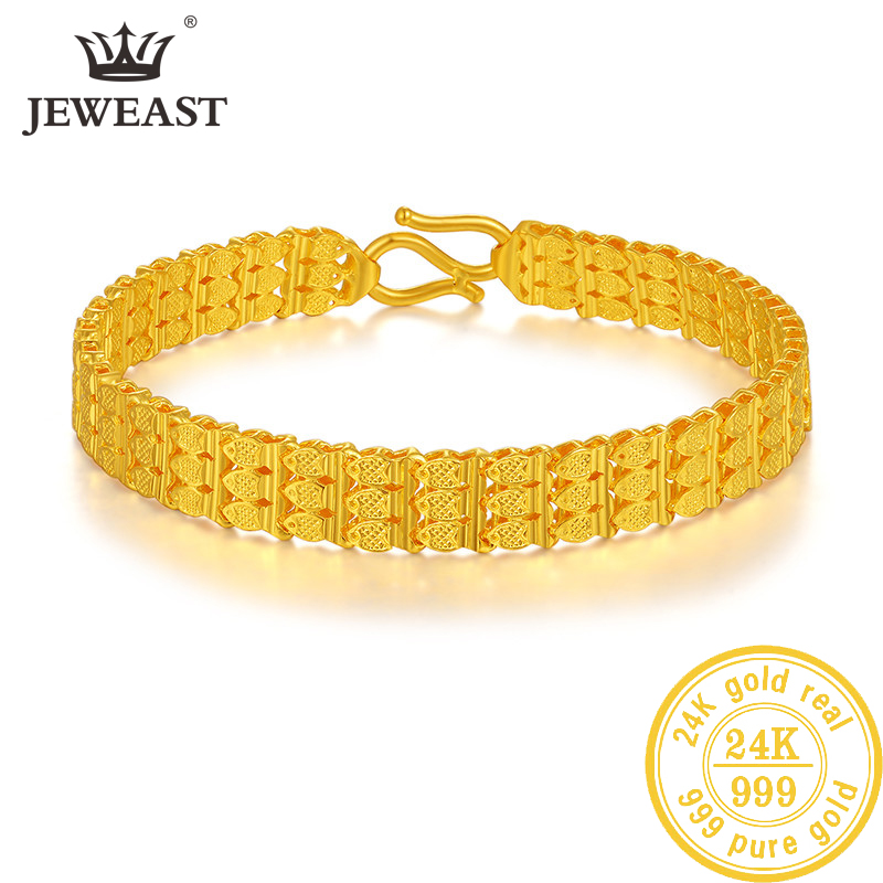 ZSFH 24K Pure Gold Bracelet Real 999 Solid Gold Bangle Upscale Beautiful  Romantic Trendy Classic Jewelry Hot Sell New 2020
