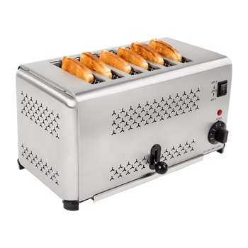 6 SLICE STAINLESS STEEL TOASTER ELECTRIC BREAD TOASTER Electric bread baking toaster Тостер