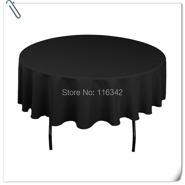 big discount retail 10pcs 90inch black round table linentable cloth - Discount Table Linens