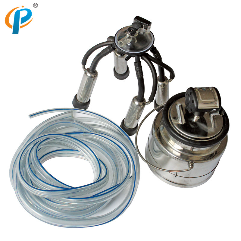 Single 5Liter SS304 Milk Bucket Group with 240CC Milk Claw and L80 Milk Pulsator for Cow