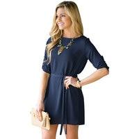 שמלת חורף שרוול ארוך נשים שמלה מזדמן נשים שמלת שרוול ארוך לסתיו