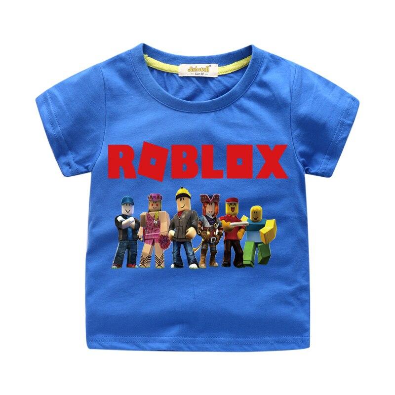 Children 3D Game Roblox Print T-shirt Clothing For Kids Cartoon Design Tee Tops Clothes Boy Girls Summer Short Tshirts WJ027