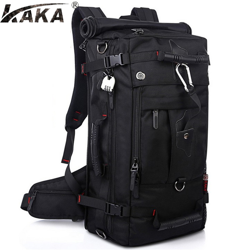 Hot High quality Men's Backpack Large Capacity Schoolbag Casual Fashion Laptop Bag Waterproof Oxford Travel Backpack Z596-in Backpacks from Luggage & Bags    1
