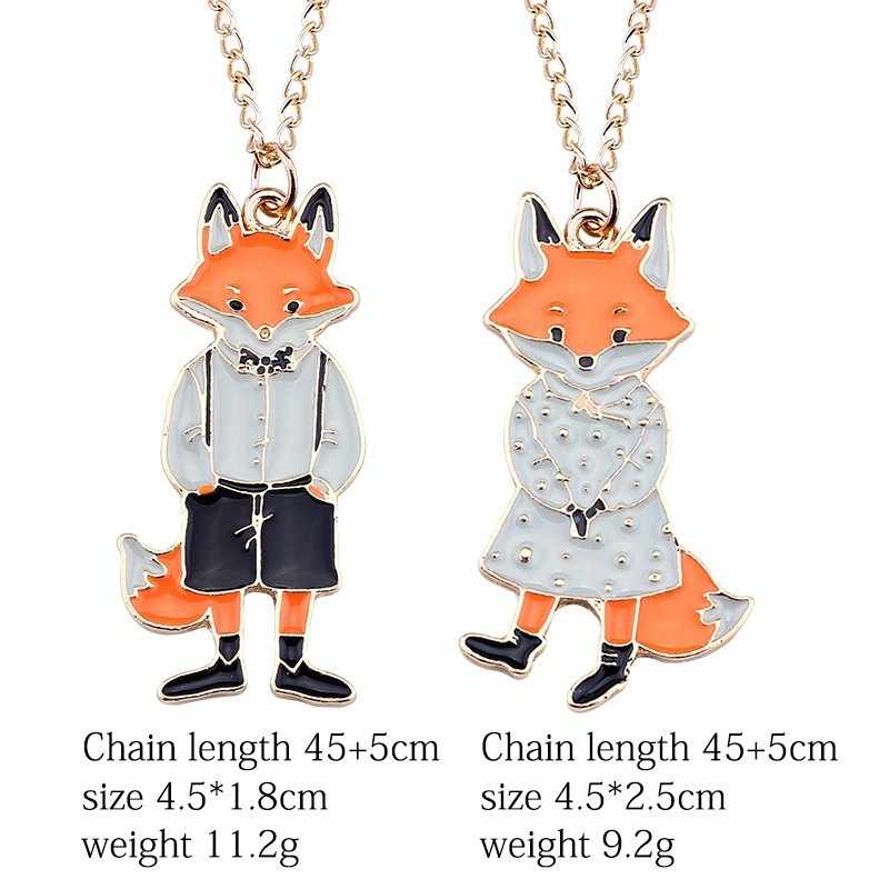 Early Spring New Fashion DIY Cartoon Dragon Bird Fox Rabbit Pendant Dragon Cat Cat Necklace Sweet Lady Animal Necklace Jewelry
