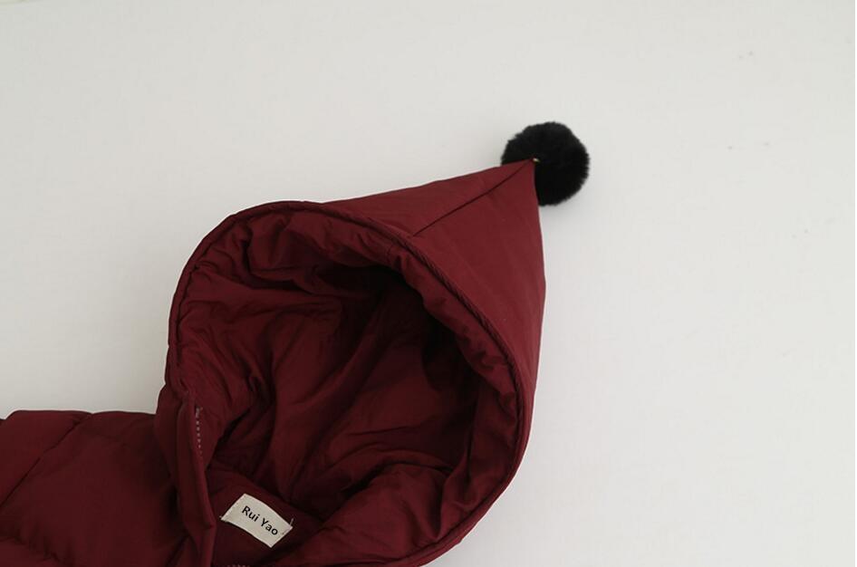 Fille printemps veste rouge à capuche enfants veste pour vêtements d'extérieur fille hiver bébé tenue parkas enfants boutiques vêtements ver - 3