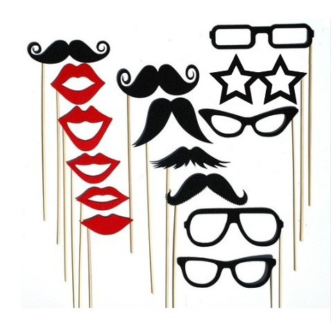 Party wedding photography Photo Booth Prop Trendy Mustache Eye Glasses Lips on a Stick Mask