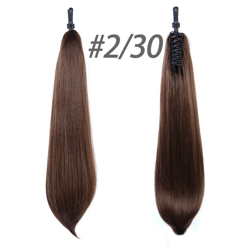 Claw On Silky Straight High Temperatuer Fiber Ponytail Hairpiece With Hairpins Synthetic Hair Pony Tail Hair Extension DIFEI